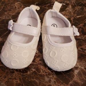 White Soft Sole Dress Shoes